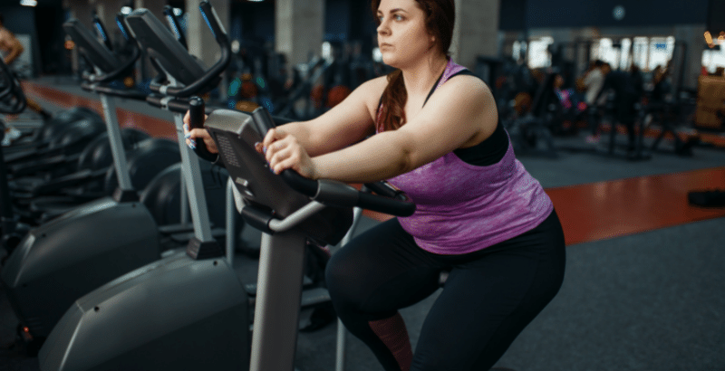 exercise for obese beginners at home (cycling)