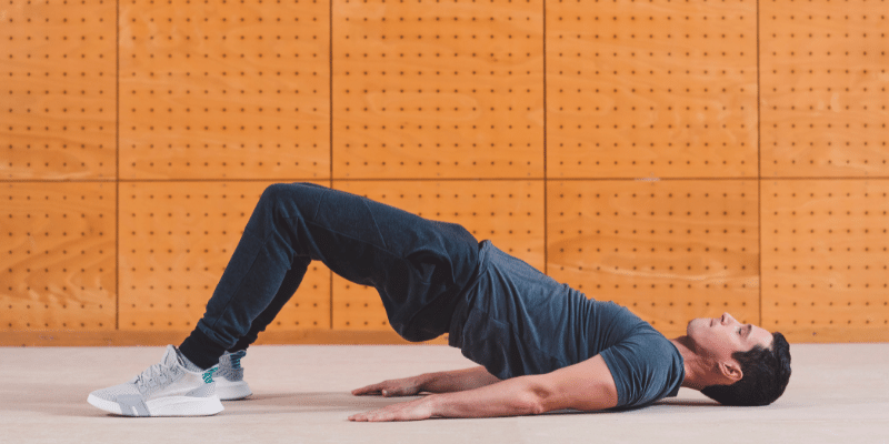 lying down exercises for weight loss(Marching Hip Raises)