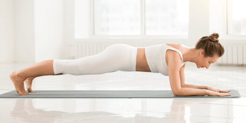 lying down exercises to lose belly fat(dolphin plank)